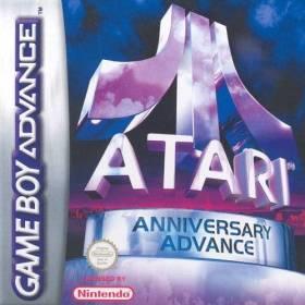 The cover art of the game Atari Anniversary Advance.