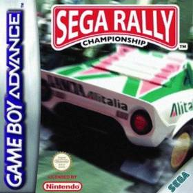 The cover art of the game Sega Rally Championship.