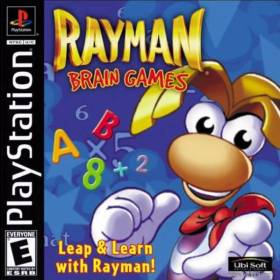 The cover art of the game Rayman Brain Games.