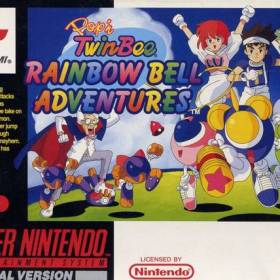 The cover art of the game Pop'n TwinBee - Rainbow Bell Adventures.