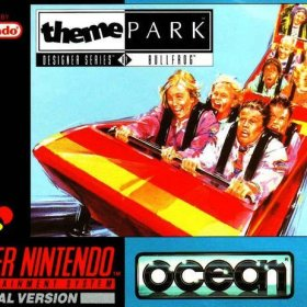 The cover art of the game Theme Park .