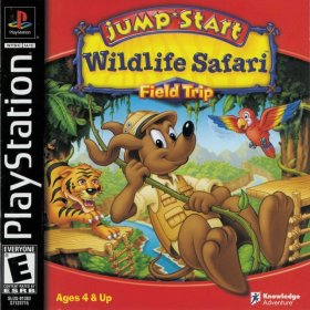The cover art of the game JumpStart: Wildlife Safari Field Trip.