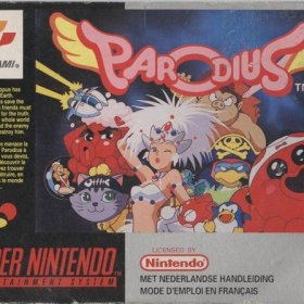 The cover art of the game Parodius - Non-Sense Fantasy.