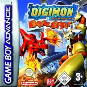 The cover art of the game Digimon Battle Spirit.