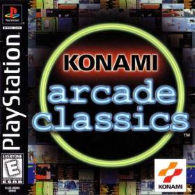 The cover art of the game Konami Arcade Classics.