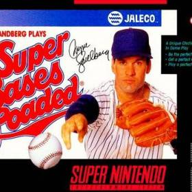 The cover art of the game Super Bases Loaded.
