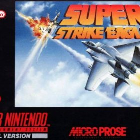 The cover art of the game Super Strike Eagle .
