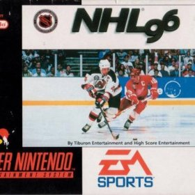 The cover art of the game NHL '96 .