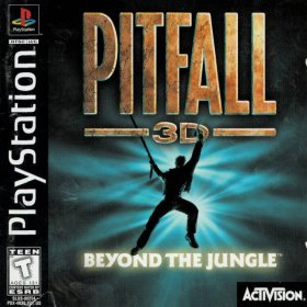 The cover art of the game Pitfall 3D: Beyond the Jungle.