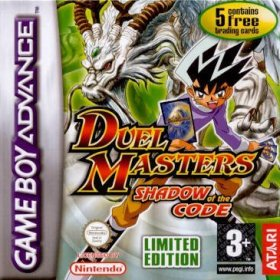The cover art of the game Duel Masters: Shadow of the Code.