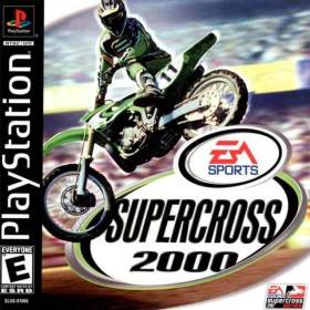 The cover art of the game Supercross 2000.