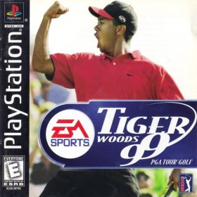 The cover art of the game Tiger Woods 99 PGA Tour Golf.