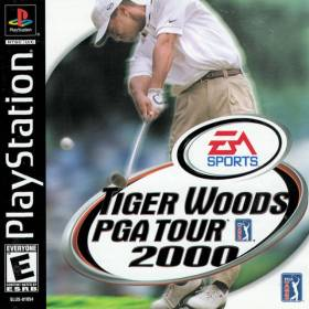 The cover art of the game Tiger Woods PGA Tour 2000.