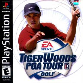 The cover art of the game Tiger Woods PGA Tour Golf.