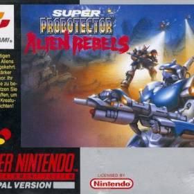 The cover art of the game Super Probotector: Alien Rebels.