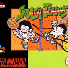 The cover art of the game Smash Tennis .