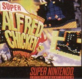 The cover art of the game Super Alfred Chicken .