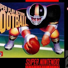 The cover art of the game Super Play Action Football .
