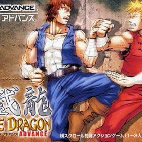 The cover art of the game Double Dragon Advance.