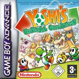 The cover art of the game Yoshi's Universal Gravitation.
