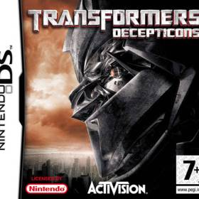 The cover art of the game Transformers - Decepticons .