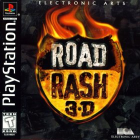 The cover art of the game Road Rash 3D.