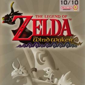 The cover art of the game The Legend of Zelda: The Wind Waker.