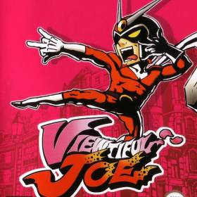 The cover art of the game Viewtiful Joe.