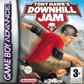 The cover art of the game Tony Hawk's Downhill Jam.