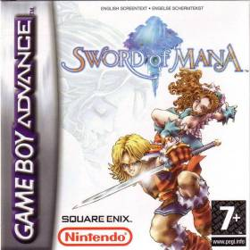 The cover art of the game Sword of Mana .