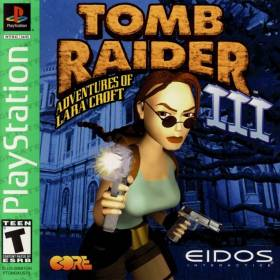 The cover art of the game Tomb Raider III: Adventures of Lara Croft [Greatest Hits].