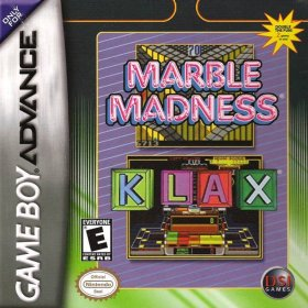 The cover art of the game Marble Madness & Klax.