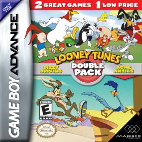 The cover art of the game 2 in 1 - Looney Tunes Double Pack .