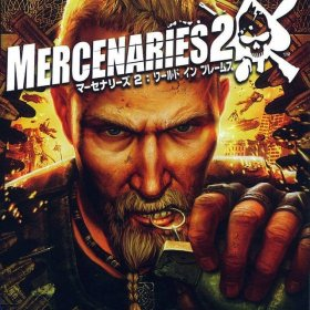 The cover art of the game Mercenaries 2: World in Flames.