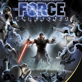 The cover art of the game Star Wars: The Force Unleashed.