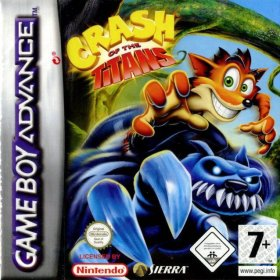The cover art of the game Crash of the Titans .