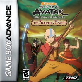 The cover art of the game Avatar - The Legend of Aang - The Burning Earth.