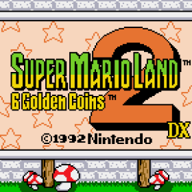 The cover art of the game Super Mario Land 2 DX (Hack).
