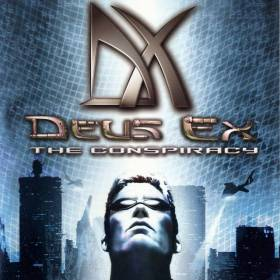 The cover art of the game Deus Ex: The Conspiracy.