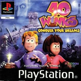 The cover art of the game 40 Winks: Conquer your Dreams.