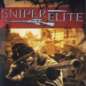 The cover art of the game Sniper Elite.