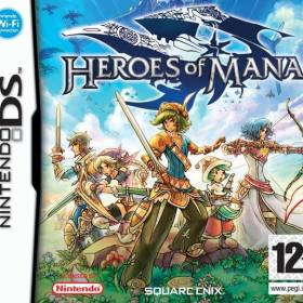 The cover art of the game Heroes of Mana .