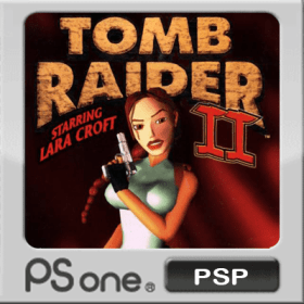 The cover art of the game Tomb Raider II.