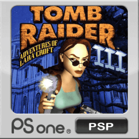 The cover art of the game Tomb Raider III.