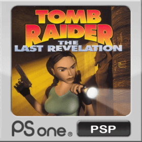 The cover art of the game Tomb Raider: The Last Revelation.
