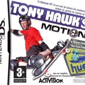 The cover art of the game Tony Hawk's Motion.