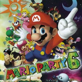 The cover art of the game Mario Party 6.