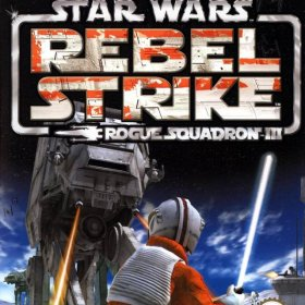 The cover art of the game Star Wars: Rogue Squadron III - Rebel Strike (Germany).