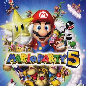 The cover art of the game Mario Party 5.