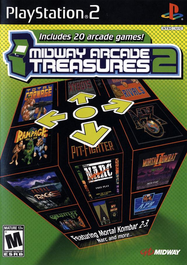 The coverart image of Midway Arcade Treasures 2